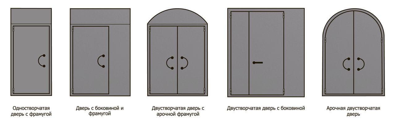 стальная дверь с боковиной и фрамугой