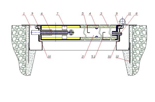 Схема дверного блока Н-2П